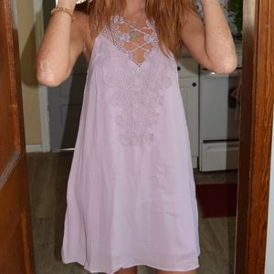 Entro Paisley Pink Dress with Neck Detail